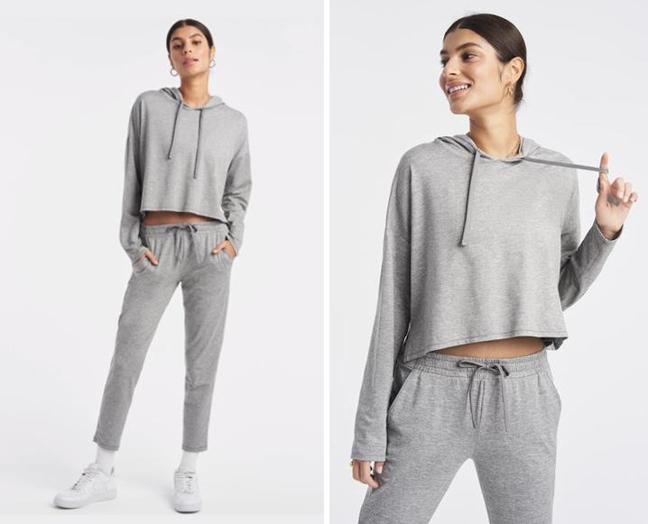 bandier zen hoodie gray