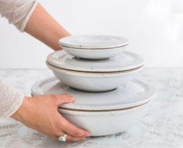 sarah kersten Set of Nesting Covered Bowls