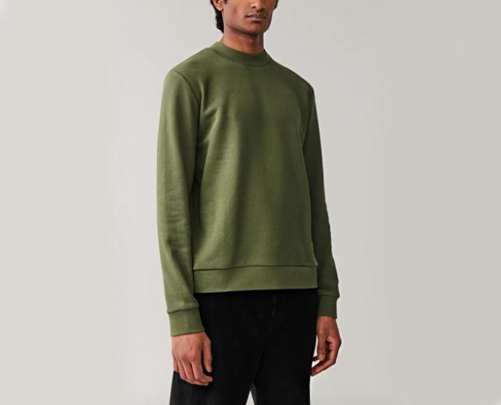 cos khaki green sweatshirt