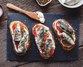 wild sardines recipe toast with mascarpone