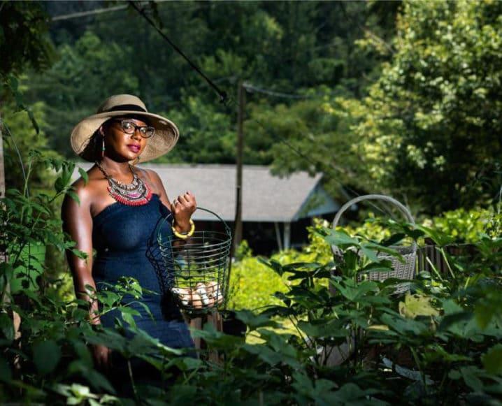 Mother's Finest Urban Farm woman in hat