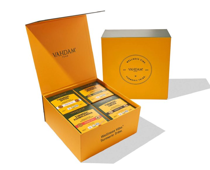 TCM 12 DAYS OF HOLIDAY GIFTS: Turmeric Tea + Latte Sets  from Vahdam