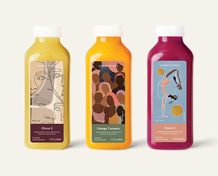 pressed juicery black history month juices
