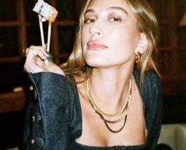 hailey bieber in jennifer fisher jewelry