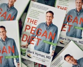 pegan diet book in pile