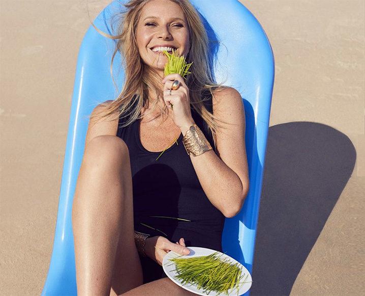 gwyneth paltrow eating greens