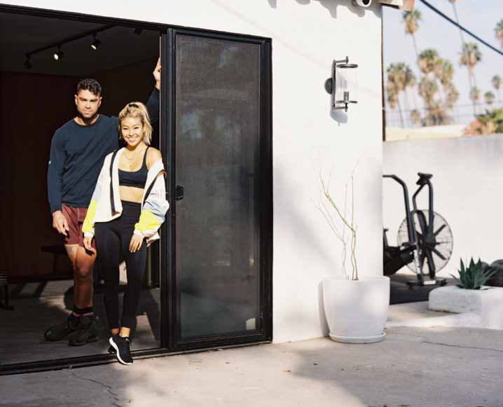 couple in their Garage-To-Gym Conversion