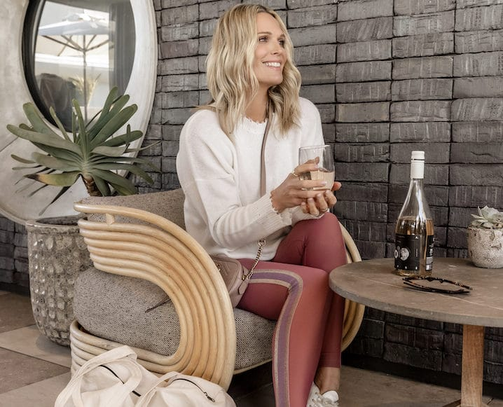 molly sims in fitnesswear collab