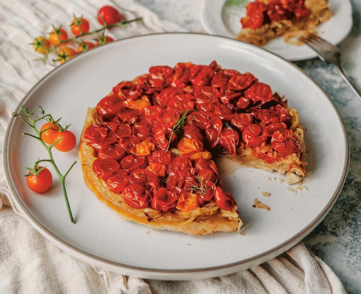 A Grain-Free Tomato Tarte Tatin from Sweet Laurel Savory
