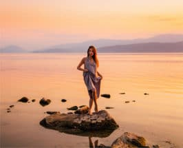 how to prepare for menopause woman at ocean
