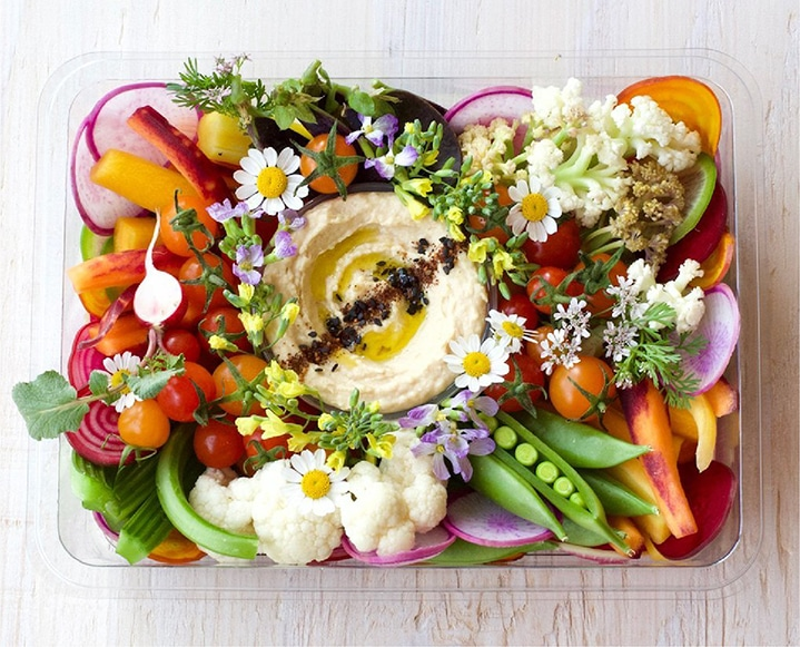 healthy crudite platter