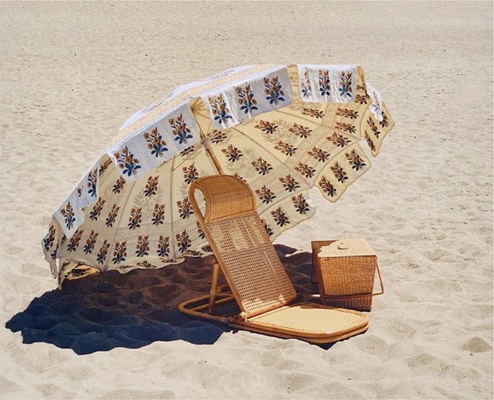 beach umbrella in sand