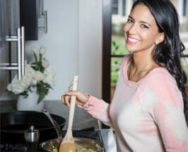 Food Babe Vani Hari in kitchen at home